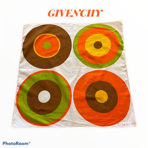 Givenchy Vintage 1970's Cotton Scarf 21x21